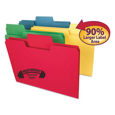 "SuperTab Heavyweight Folder, 1/3 Tab, 3/4"" Exp., Letter, Assorted, 50/BX<br />91-SMD-10410"