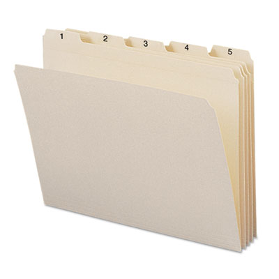 Indexed File Folders, 1/5 Cut, Indexed 1-31, Top Tab, Letter, Ma