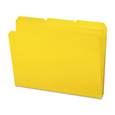Waterproof Poly File Folders, 1/3 Cut Top Tab, Letter, Yellow, 24/Box<br />91-SMD-10504