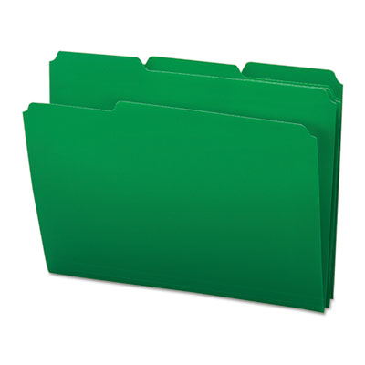 Waterproof Poly File Folders, 1/3 Cut Top Tab, Letter, Green, 24/Box<br />91-SMD-10502