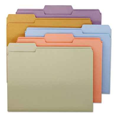 File Folders, 1/3 Cut Top Tab, Letter, Assorted Colors, 100/Box<br />91-SMD-11953
