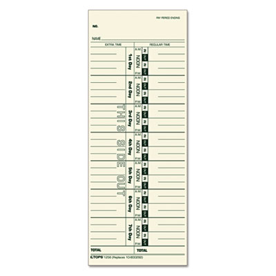 Acroprint, Cincinnati, Lathem, Simplex, Stromberg Time Card 3 1/