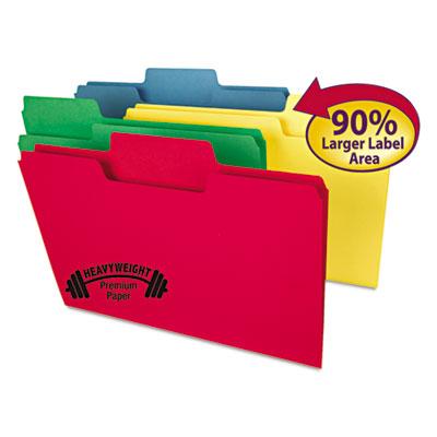 SuperTab Heavyweight folder, Assorted, 1/3 Cut, Legal, 50/BX<br />91-SMD-15410