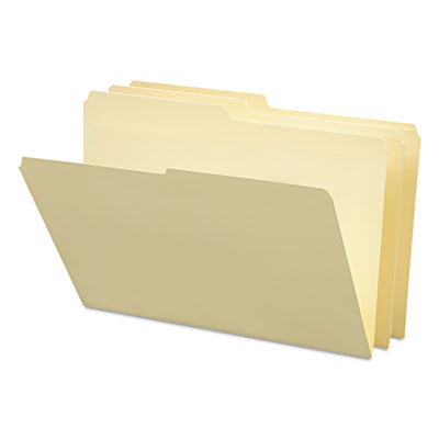 File Folders, 1/2 Cut, One-Ply Top Tab, Legal, Manila, 100/Box<br />91-SMD-15320