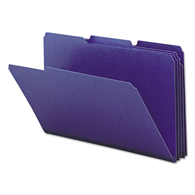 Recycled Folders, One Inch Expansion, 1/3 Top Tab, Legal, Dark B