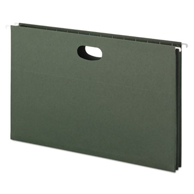 1 3/4 Inch Hanging File Pockets with Sides, Legal, Standard Gree
