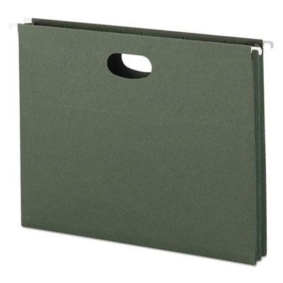 1 3/4 Inch Hanging File Pockets with Sides, Letter, Standard Gre