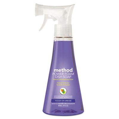 Power Foam Dish Soap, French Lavender Scent, 16 oz Pump Bottle