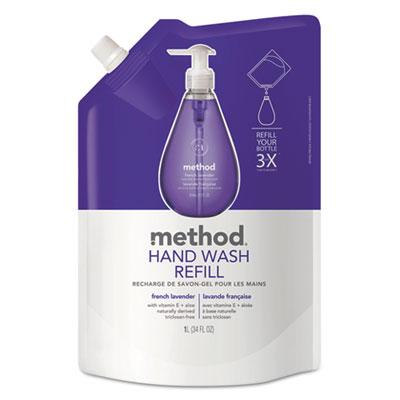 Gel Hand Wash Refill, 34oz, Natural Lavender Scent, Plastic Pouc