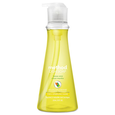 Dish Soap Pump, Lemon Mint, 18 oz Pump Bottle