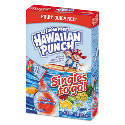 Drink Mix Singles, Fruit Juicy Red, 0.75 oz Stick, 8/Box