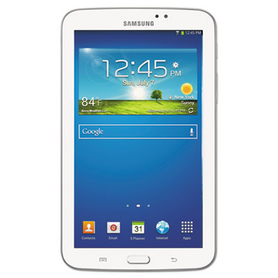 Galaxy Tab 3 7.0 Tablet, Refurbished, 8 GB, Wi-Fi, White