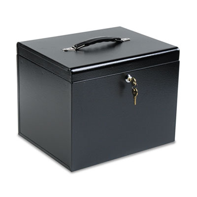 Personal File Storage Box, Letter, Textured Steel, Black