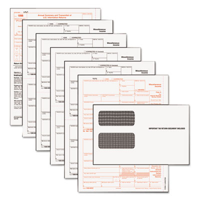 Tax Forms/1099 Misc Tax Forms Kit with 24 Forms, 24 Envelopes, 1