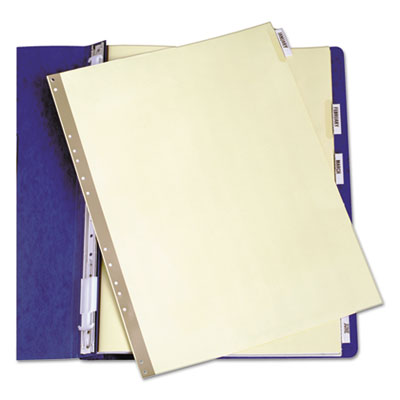 Gold Line Data Binder Insertable Tab Index, 6-Tab, 14-7/8 x 11,
