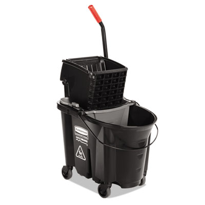 WaveBrake Side-Press Wringer/Bucket Combo, 8.75 gal, Black