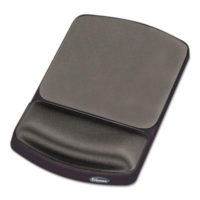 Gel Mouse Pad w/Wrist Rest, Nonskid, 6-1/4 x 10-1/8, Platinum/Gr