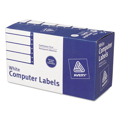 Dot Matrix Printer Address Labels, 1 Across, 1-15/16 x 4, White,