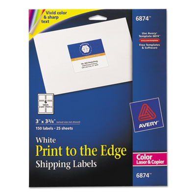 American paper twine co averyr vibrant color printing for Colored mailing labels