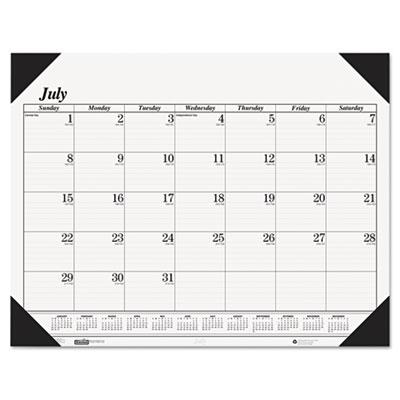 Economy 14-Month Academic Desk Pad Calendar, 22 x 17, 2014-2015