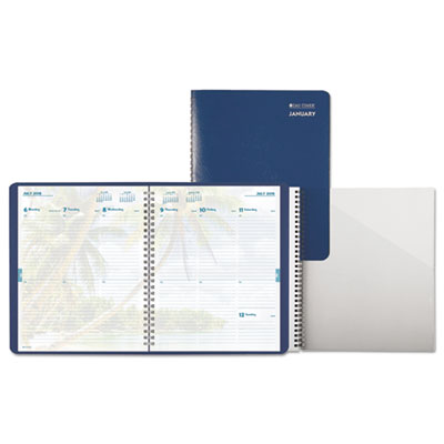 Coastlines Wirebound Weekly/Monthly Planner, 5 1/2 x 8 1/2, 2015
