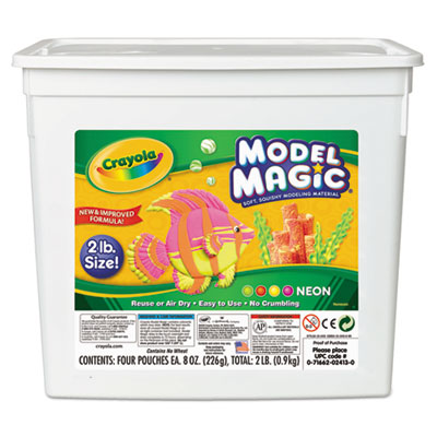 Model Magic Modeling Compound, 8 oz each/Neon, 2 lbs