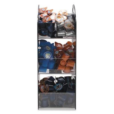 Compact Condiment Organizer, 6 1/8w x 8d x 18h, Black
