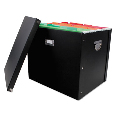 "File Box, 16"" x 13"" x 13 1/4"", Letter/Legal, Paperboard, Black"