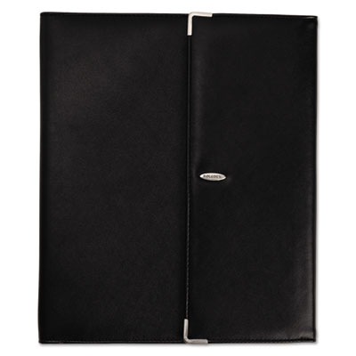 Faux Leather Business Card Book Holds 240 2 1/4 x 4 Cards, Black