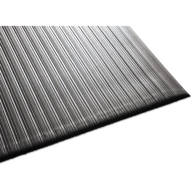 Air Step Antifatigue Mat, Polypropylene, 36 x 144, Black