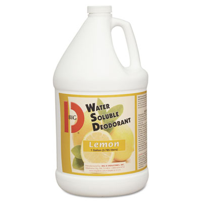 Water-Soluble Deodorant, Lemon Scent, 1gal Bottles, 4/Carton