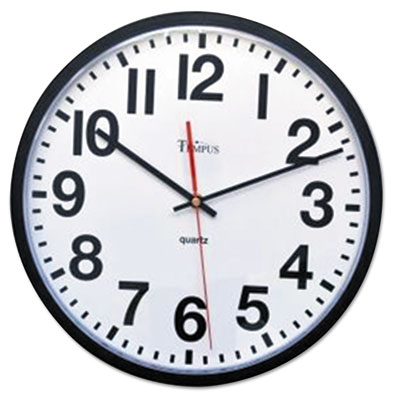 "Large Numeral Clock, 13"", Black"