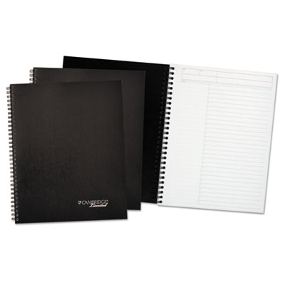 Action-Planner Wirebound Business Notebook, 7 1/4 x 9 1/2, Black