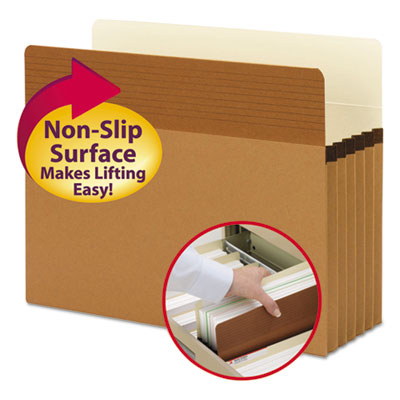 """Easy Grip Pockets, Redrope, Letter, 5 1/4"""" Exp, 10/Box<br />91-SMD-73209"""