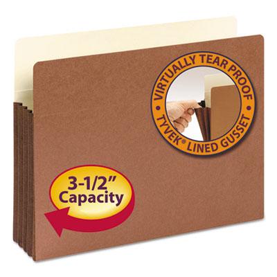 "3 1/2"" Exp File Pocket, Straight Tab, Letter, Manila/Redrope, 10/Bx<br />91-SMD-73264"