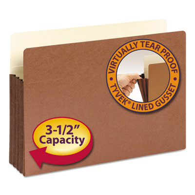 "3 1/2"" Exp File Pocket, Straight Tab, Legal, Manila/Redrope, 10/Bx<br />91-SMD-74264"