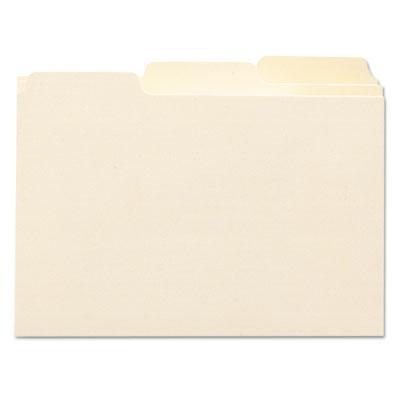 Self-Tab Card Guides, Blank, 1/3 Tab, Manila, 4 x 6, 100/Box