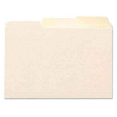 Self-Tab Card Guides, Blank, 1/3 Tab, Manila, 5 x 8, 100/Box