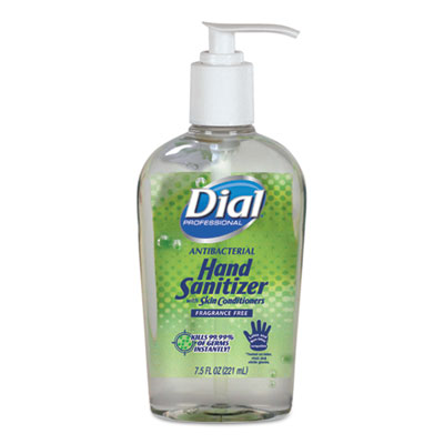 Antibacterial Gel Sanitizer with Moisturizer, 7.5 oz, Fragrance-