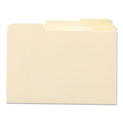 Self-Tab Card Guides, 1/3 Tab, Manila, 3 x 5, 100/Box