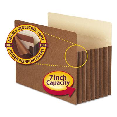 "7"" Exp Pocket with Tyvek, Straight, Legal, Manila/Redrope, 5/Box<br />91-SMD-74395"