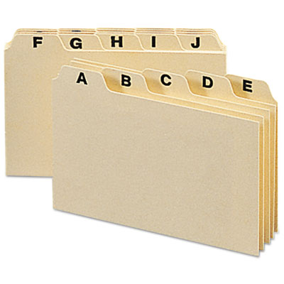 Self-Tab Card Guides, Alpha, 1/5 Tab, Manila, 25/Set