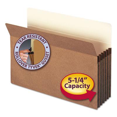 "5 1/4"" Exp File Pocket, Straight Tab, Legal, Manila/Redrope, 10/Bx<br />91-SMD-74234"