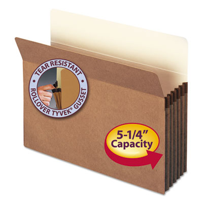 "5 1/4"" Exp Pocket, Straight Tab, Letter, Manila/Redrope, 10/Box<br />91-SMD-73234"