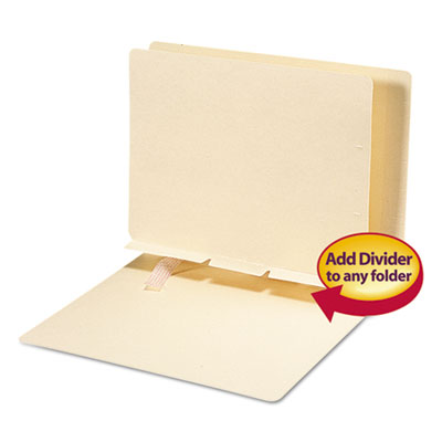 Manila Self-Adhesive Folder Dividers with Prepunched Slits, Lett