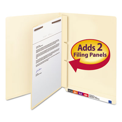 Manila Self-Adhesive End/Top Tab Folder Dividers, Two Fasteners,