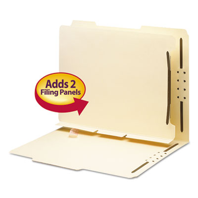 Manila Self-Adhesive Folder Dividers with Twin-Prong Fastener, L