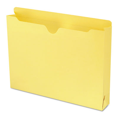 Colored File Jackets with Reinforced Double-Ply Tab, Letter, Yellow, 50/Box<br />91-SMD-75571