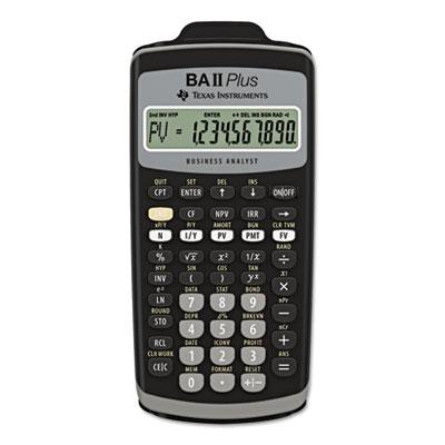 BAIIPlus Financial Calculator, 10-Digit LCD<br />91-TEX-BAIIPLUS