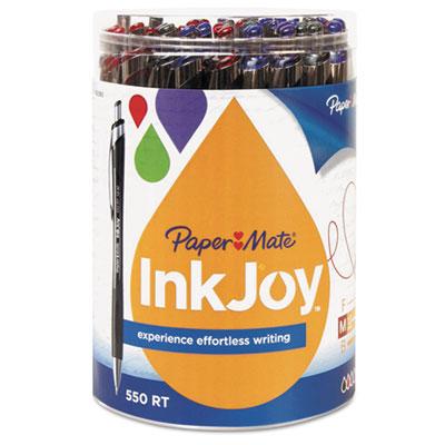 InkJoy 550 RT Ballpoint Retractable Pen, 1.0 mm, 12 Black/12 Blu